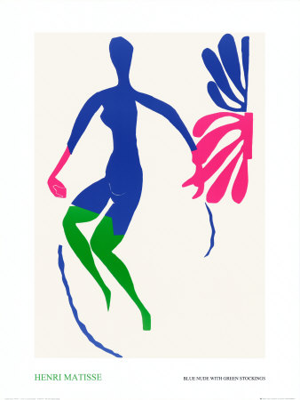Blue Nude with Green Stockings Print by Henri Matisse