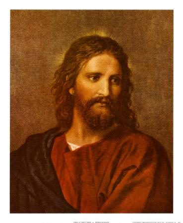 Christ at Thirty-Three Kunst af Heinrich Hofmann
