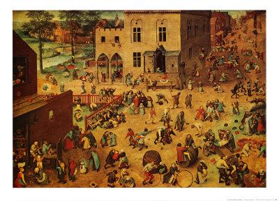 Children's Games Poster by Pieter Bruegel the Elder