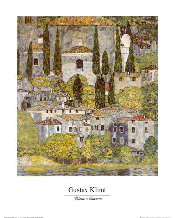 Church at Cassone sul Garda Art Print