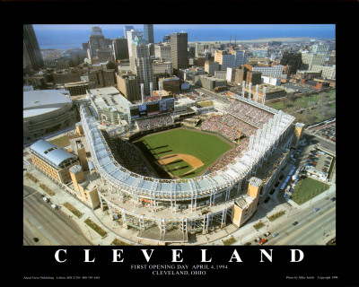 Cleveland - First Indians Game at Jacobs Field ポスター : マイク・スミス