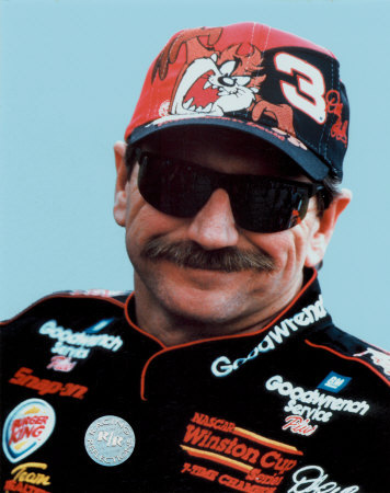 Dale Earnhardt Portrait With Tazz Hat Foto