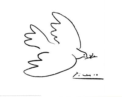 Vredesduif Poster van Pablo Picasso
