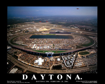 Florida Auto Racing on Daytona Beach  Florida Prints By Mike Smith   Allposters Co Uk