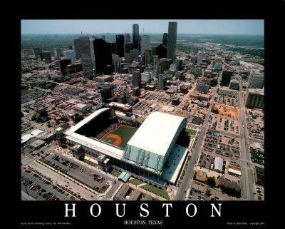 エンロンフィールド - ヒューストン, テキサス州 ポスター : マイク・スミス