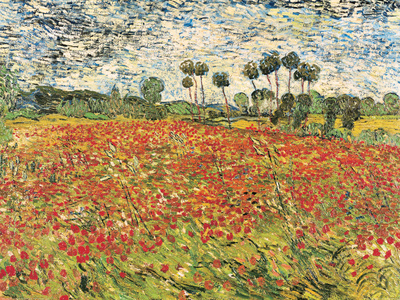 Field of Poppies, Auvers-Sur-Oise, c.1890 Art Print