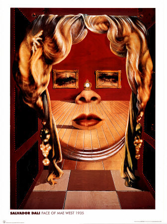 Face of Mae West, c.1935 Print by Salvador Dalí