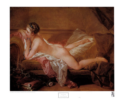 Girl Resting Print by Francois Boucher