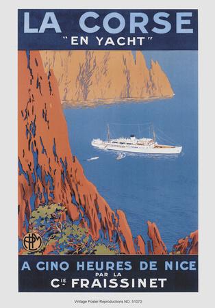 Corse En Yacht Print by  Hoock
