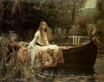 Lady of Shalott Art Print