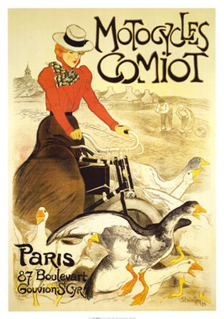 Motocycles Comiot Posters by Théophile Alexandre Steinlen