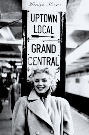 Marilyn Monroe - Grand Central Station Póster