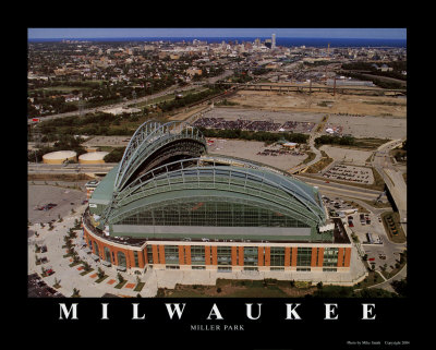 Milwaukee Brewers - Miller Park Prints by Mike Smith