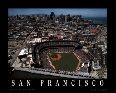 AT&T Park - San Francisco, California Poster by Mike Smith