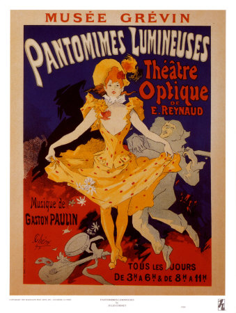 Pantomimes Lumineuses Print by Jules Chéret