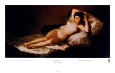 Nude Maja Posters by Francisco de Goya