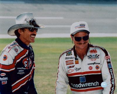 Nascar Auto Racing  Richard Petty   Vegas on Seven   Seven   Dale Earnhardt   Richard Petty Foto Su Allposters It