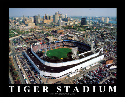 Detroit - Tiger Stadium Final Game Prints by Mike Smith