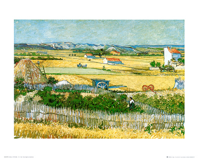 The Reaping at La Crau Art Print