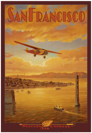 Western Air Express, San Francisco, Californie Reproduction d'art
