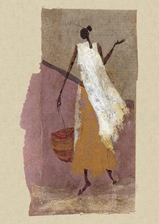 Woman with a Basket Prints by Charlotte Derain