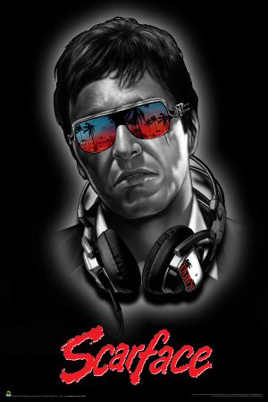 Scarface - Headphones poster