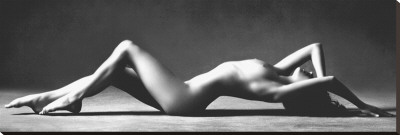 Nude Reclining Stretched Canvas Print by Scott McClimont