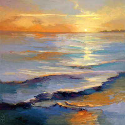 Ocean overture watercolor seascape by Vicki McMurry