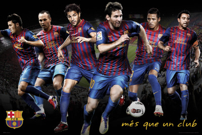 Barcelona-Players 2011-2012 Poster
