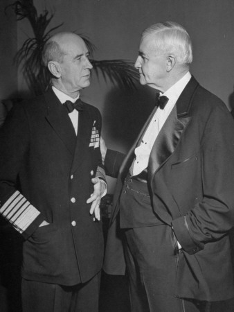 Jesse Jones Talking to Adm. Ernest J. King at Franklin D. Roosevelt Inauguration Premium Photographic Print