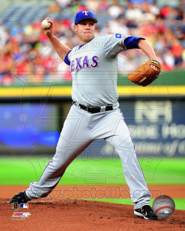 Colby Lewis 2011 Action Photo