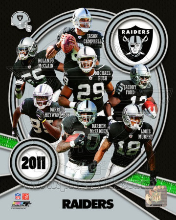 Oakland Raiders 2011 Team Composite Photo