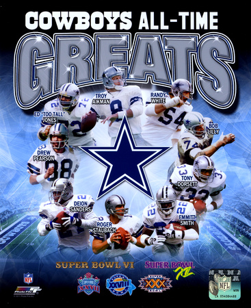 NFL Dallas Cowboys All Time Greats Composite Photo
