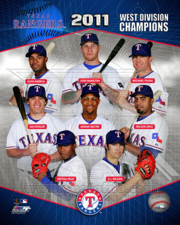 Texas Rangers 2011 AL West Division Champions Composite Photo