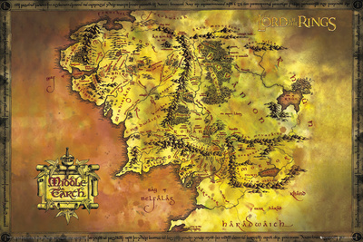 Lord Of The Rings-Classic Map Posters