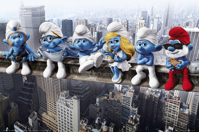 Smurfs-On Girder Poster
