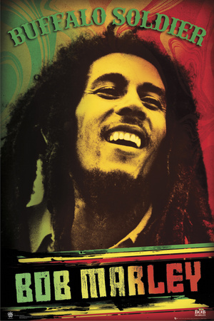 Marley Posters on Bob Marley Buffalo Soldier Poster
