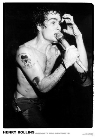 Henry Rollins-100 Club 1983 アートポスター