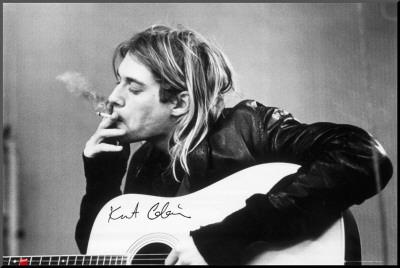 Kurt Cobain Mounted Print