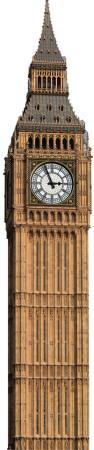 Big Ben Clock Tower Standup Figura de cartón
