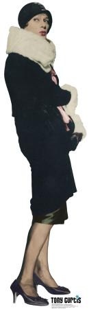 Josephine as Tony Curtis - colored Cardboard Cutouts