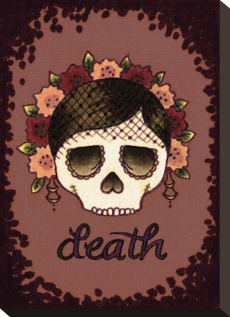 Till Death Womens Stretched Canvas Print by Brittany Morgan