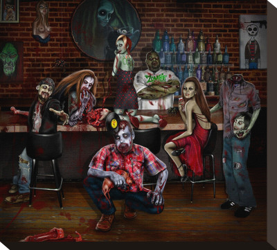 The Zombie Room Stretched Canvas Print by Cristie Dunavan