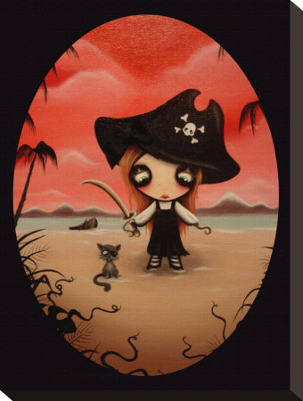 Ginger Pirate Stretched Canvas Print by Candy Cane