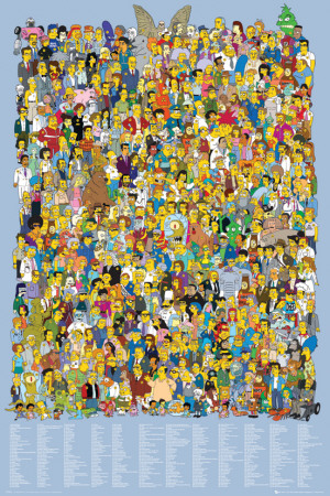 Simpsons-Cast Names Stampa