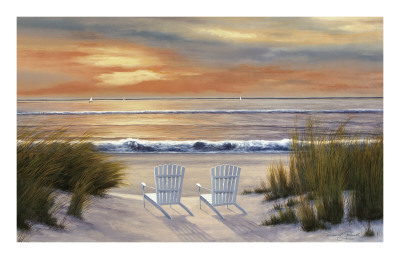 Paradise Sunset Prints by Diane Romanello