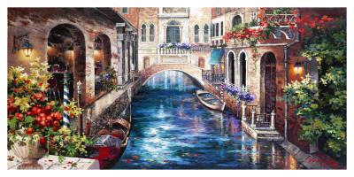 Venice Bridge Posters by Alma Lee