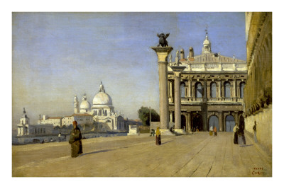 Morning in Venice Prints by Jean-Baptiste-Camille Corot