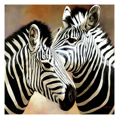 Zebra Pair Prints by  Arcobaleno