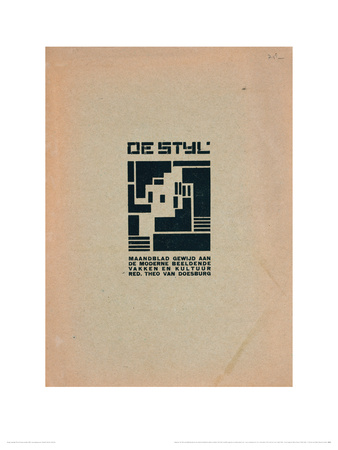 De Styl front cover Giclee Print